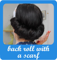 How to do a vintage back roll with a scarf