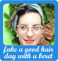 Fake a good hair day with a beret and front roll tutorial