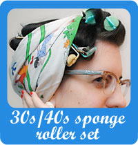 Late 30s/early 40s sponge roller set tutorial